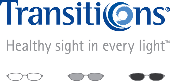 Transitions lenses ad that reads: Healthy sight in every light