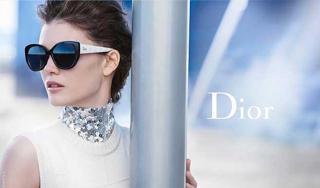 Dior model wearing sunglasses